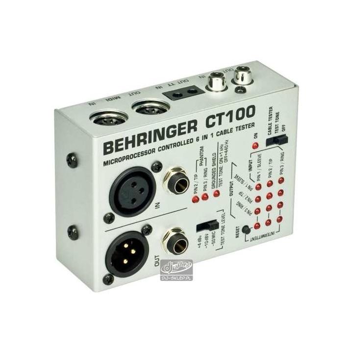 Behringer CT100 tester kabli