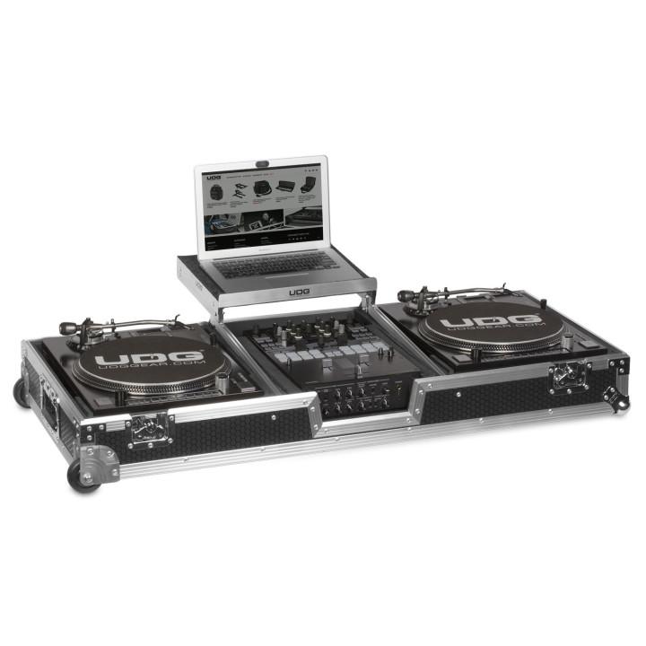 UDG Ultimate Flight Case Set Multi Format Turntable Mixer Silver Plus