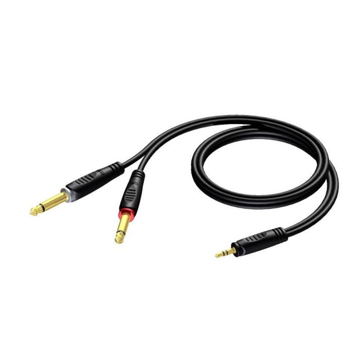Procab REF713 mini jack m stereo 2x jack m 3 m