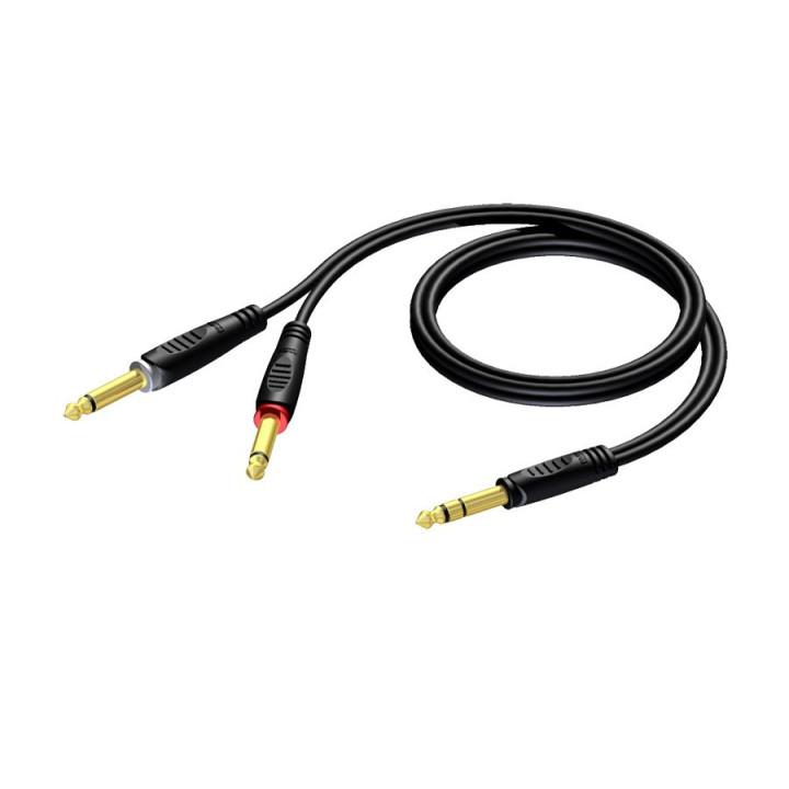 Procab REF721 jack m stereo 2x jack m mono 1.5 m