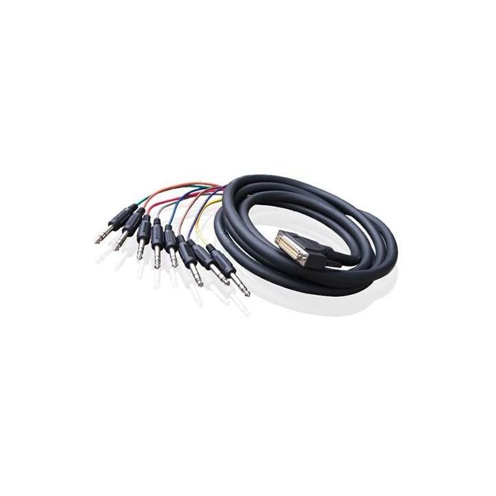 Alva kabel D-Sub25 - 8 x TRS 6 m